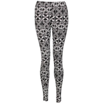 View Item Monochrome Butterfly Print Leggings